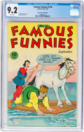 Golden Age (1938-1955):Miscellaneous, Famous Funnies #134 Mile High Pedigree (Eastern Color, 1945) CGC NM- 9.2 White pages....