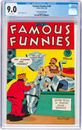 Golden Age (1938-1955):Humor, Famous Funnies #140 Mile High Pedigree (Eastern Color, 1946) CGC VF/NM 9.0 White pages....