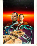 "Original Comic Art:Covers, Keith Birdsong Star Trek: Deep Space Nine #4 ""The Big Game""Paperback Novel Cover Painting Original Art (Pocket Bo..."