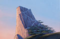 Animation Art:Painted cel background, The Lion King Pride Rock Pre-Production Background (Walt Disney,1994)....