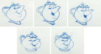 Beauty and the Beast Animation Drawings Set of 11 (Walt Disney, 1991).... (Total: 12 Items)
