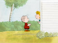 Animation Art:Production Cel, Peanuts The Charlie Brown and Snoopy Show Linus and Sally Production Cel Setup with Matching Animation Drawing (Bi... (Total: 2 Items)