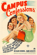 "Movie Posters:Comedy, Campus Confessions (Paramount, 1938). Fine+ on Linen. One Sheet (27"" X 40.5"").. ..."