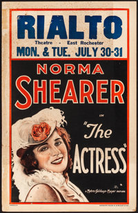 "The Actress (MGM, 1928). Fine. Window Card (14"" X 22""). Comedy"