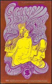 "Grateful Dead at the Fillmore (Bill Graham, 1967). Very Fine+. Concert Poster (14"" X 23"") Post-Concert 2nd Pri..."
