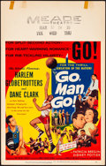 "Movie Posters:Sports, Go, Man, Go (United Artists, 1954). Very Fine-. Window Card (14"" X 22""). Sports.. ..."