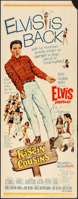 "Kissin' Cousins (MGM, 1964). Folded, Fine/Very Fine. Insert (14"" X 36""). Elvis Presley"