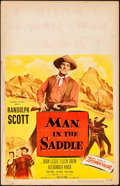 "Movie Posters:Western, Man in the Saddle & Other Lot (Columbia, 1951). Fine+. WindowCards (2) (14"" X 22""). Western.. ... (Total: 2 Items)"