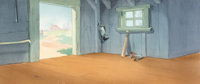 Truant Officer Duck Clubhouse Interior Pan Production Background (Walt Disney, 1941)