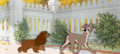 Animation Art:Production Cel, Lady and the Tramp Production Cel and Pan Master Background (Walt Disney, 1955)....