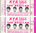 Music Memorabilia:Tickets, The Beatles Unused Pair of Candlestick Park Concert Tickets (1966). . ...