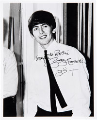 George Harrison 8 X 10 Signed Photograph