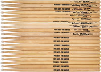 The Beatles' Pete Best Drumsticks, 20 in All, 10 of them Signed