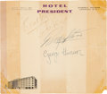 Music Memorabilia:Autographs and Signed Items, The Beatles Signed Hotel President Letterhead (1963). . ...