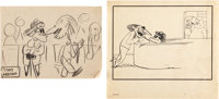 Disney In-Studio Gag Drawings by Jesse Marsh Group of 9 (Walt Disney, c. 1940s).... (Total: 9 Original Art)