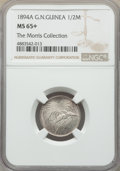 German New Guinea: German Colony. Wilhelm II 1/2 Mark 1894-A MS65+ NGC