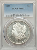 Morgan Dollars: , 1879 $1 MS64 PCGS. PCGS Population: (4298/1566). NGC Census: (4351/756). CDN: $110 Whsle. Bid for problem-free NGC/PCGS MS6...