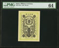World Currency, Japan Military Currency 20 Sen 1918 Pick M14 PMG Choice Uncirculated 64.. ...