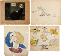 Disney In-Studio Gag Paintings and Drawings by Jesse Marsh Group of 19 (Walt Disney, c. 1940s).... (Total: 19 Items)