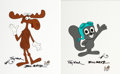Animation Art:Presentation Cel, The Rocky and Bullwinkle Show Rockey and Bullwinkle SignedScene Cels Group of 2 (Jay Ward, 1988).... (Total: 2 Original Art)