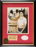 Animation Art:Photograph, The Mickey Mouse Club Annette Funicello Autograph and Photo(Walt Disney, 1957-59) ...