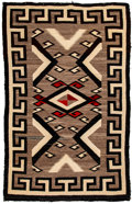 American Indian Art:Weavings, A Navajo Regional Rug. Crystal...