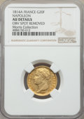 France, France: Napoleon gold 20 Francs 1814-A AU Details (Obverse Spot Removed) NGC,...