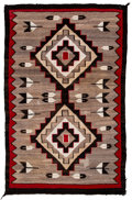 American Indian Art:Weavings, A Navajo Regional Rug. c. 1940...