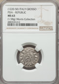 Italy, Italy: Pisa. Republic in the name of Frederick I (1155-1312) Grosso ND (1220-1250) MS63 NGC,...
