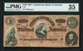 Confederate Notes:1864 Issues, T65 $100 1864 PF-3 Cr. 494 PMG Choice Very Fine 35.. ...