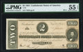 Confederate Notes:1864 Issues, T70 $2 1864 PF-5 Cr. 567 PMG About Uncirculated 55 EPQ.. ...
