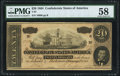 Confederate Notes:1864 Issues, T67 $20 1864 PF-3 Cr. 505 PMG Choice About Unc 58.. ...