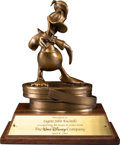 Animation Art:Maquette, Donald Duck Bronze 40-Year Disney Service Award (Walt Disney, 1966). ...