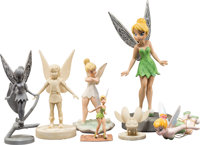 Tinker Bell and the Lost Treasure Maquettes and Figurines Group of 7 (Walt Disney, 2009).... (Total: 7 Items)