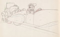 Animation Art:Production Drawing, Mickey's Rival (Le Rival de Mickey) Dessin d'animation deRatino (Walt Disney, 1936)....