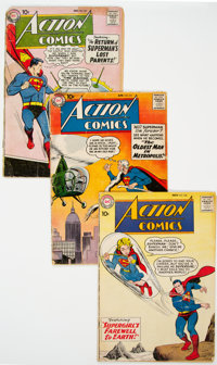 Action Comics and Other DC Titles Group of 38 (DC, 1950s-70s) Condition: Average FR/GD.... (Total: 38 Comic Books)