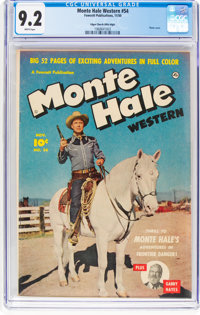 Monte Hale Western #54 Mile High Pedigree (Fawcett Publications, 1950) CGC NM- 9.2 White pages