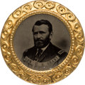 Political:Ferrotypes / Photo Badges (pre-1896), Ulysses S. Grant: Large, Showy Ferrotype....