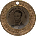 Political:Ferrotypes / Photo Badges (pre-1896), Abraham Lincoln: Back-to-Back Ferrotype.. ...
