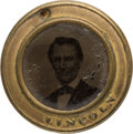 Political:Ferrotypes / Photo Badges (pre-1896), Abraham Lincoln: Rare Back-to-Back Ferrotype.. ...