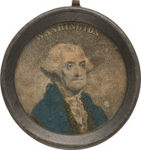 George Washington: Pewter-Rim Mirror