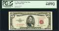 Fr. 1534* $5 1953B Legal Tender Star Note. PCGS Very Choice New 64PPQ