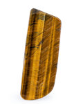 Lapidary Art:Carvings, Tiger's-Eye Slab. South Africa. 7.87 x 2.95 x 0.17 inches (20.00x 7.50 x 0.42 cm). ...