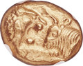 Ancients:Greek, Ancients: LYDIAN KINGDOM. Croesus (ca. 561-546 BC). AV stater (16mm, 8.10 gm). NGC MS 4/5 - 5/5....