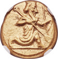 Ancients:Greek, Ancients: ACHAEMENID PERSIA. Time of Xerxes II-Artaxerxes II (ca. 420-375 BC). AV daric (17mm, 8.34 gm). NGC Choice AU 5/5 - 4/5....