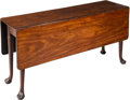 Furniture , A Queen Anne Mahogany Gate Leg Drop Leaf Table, 18th century. 29 x 56 x 49-1/2 inches (73.7 x 142.2 x 125.7 cm) (open). ...