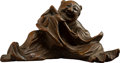 Carvings, A Chinese Carved Bamboo Figure, Qing Dynasty. 1-3/4 x 3-1/4 x 1-5/8 inches (4.4 x 8.3 x 4.1 cm). ...