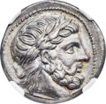 Ancients: MACEDONIAN KINGDOM. Philip II (359-336 BC). AR tetradrachm (23mm, 14.07 gm, 10h). NGC Choice XF★ 5/5 - 4/5