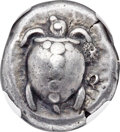 Ancients: SARONIC ISLANDS. Aegina. Ca. 480-457 BC. AR stater (20mm, 12.24 gm). NGC Choice VF★ 5/5 - 3/5, punch mark
