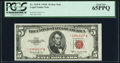Fr. 1535* $5 1953C Legal Tender Star Note. PCGS Gem New 65PPQ